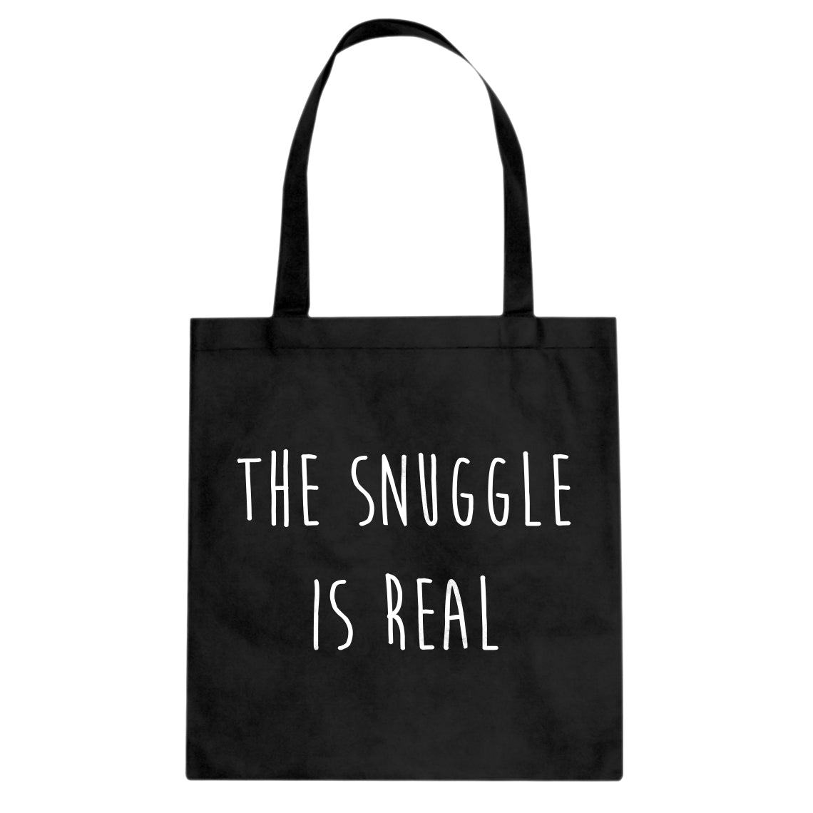 The Snuggle is Real Cotton Canvas Tote Bag