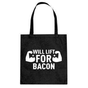 Tote Will Lift for Bacon Canvas Tote Bag