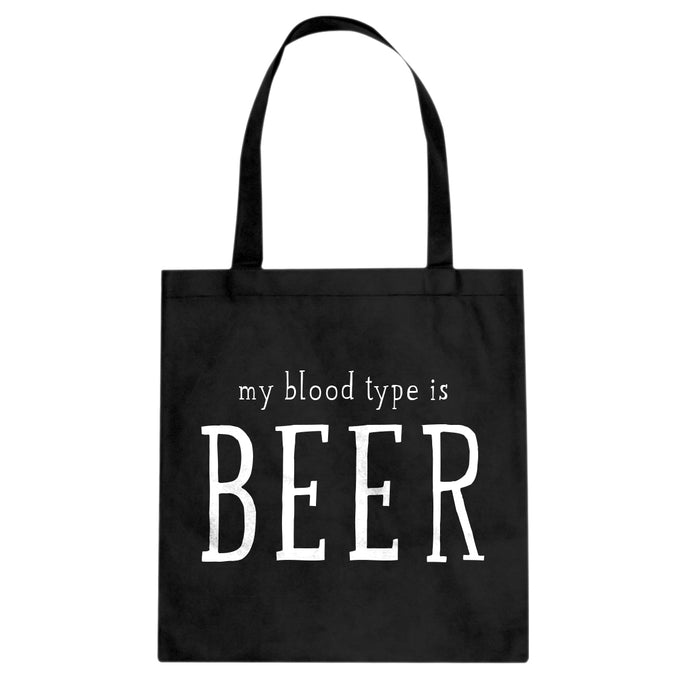 My Blood Type is Beer Cotton Canvas Tote Bag