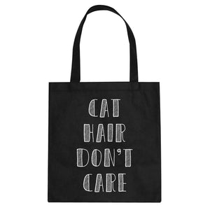 Tote Cat Hair Don't Care Canvas Tote Bag