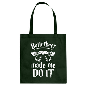 Tote Butterbeer Made Me Do It Canvas Tote Bag