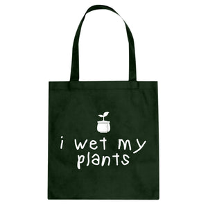 Tote I Wet My Plants Canvas Tote Bag