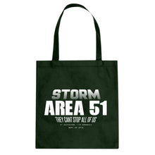 Storm Area 51 They Can't Stop Us All Cotton Canvas Tote Bag