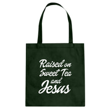Tote Raised on Sweet Tea and Jesus Canvas Tote Bag