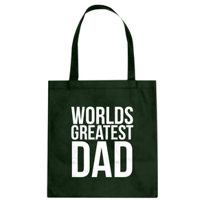 Tote Worlds Greatest Dad Canvas Tote Bag
