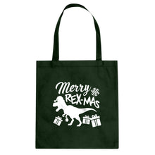 Merry Rex-Mas Cotton Canvas Tote Bag