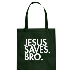 Tote Jesus Saves Bro Canvas Tote Bag