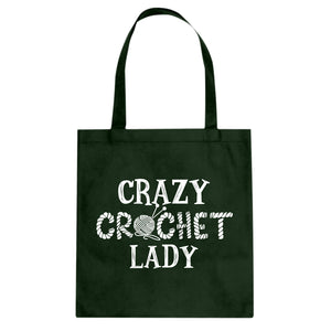 Tote Crazy Crochet Lady Canvas Tote Bag