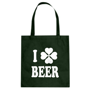 Tote I Love Beer Canvas Tote Bag