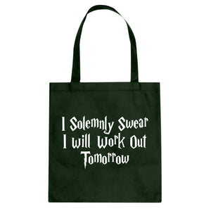 Tote Solemnly Swear to Work Out Canvas Tote Bag
