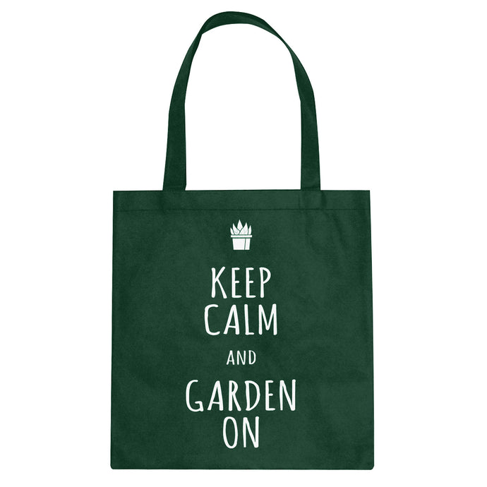 Tote Keep Calm and Garden On Canvas Tote Bag
