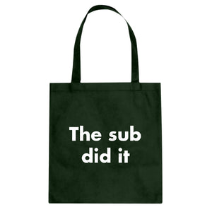 Tote The Sub Did it Canvas Tote Bag