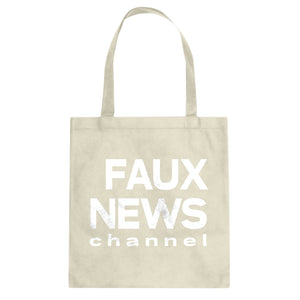 Tote Faux News Canvas Tote Bag