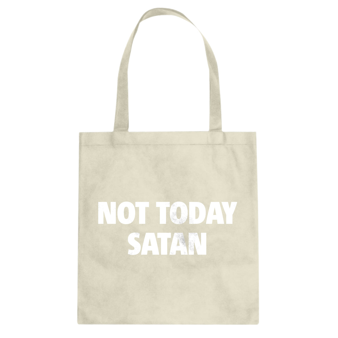 Indica Plateau Not Today Satan Cotton Canvas Tote Bag