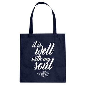 Tote It is Well with My Soul Canvas Tote Bag