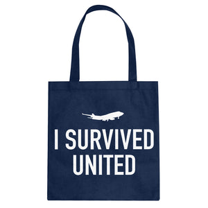 Tote I Survived United Canvas Tote Bag