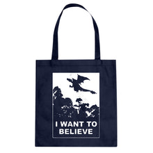 I Want to Believe Fire Dragon Cotton Canvas Tote Bag