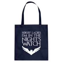 Tote Sorry Ladies Nights Watch Canvas Tote Bag