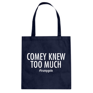 Tote Comey Knew Too Much Canvas Tote Bag
