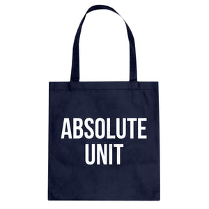 Absolute Unit Cotton Canvas Tote Bag
