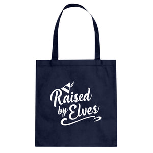Raised by Elves Cotton Canvas Tote Bag
