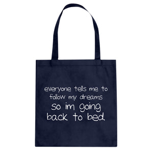 Tote Back to Bed Canvas Tote Bag