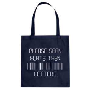 Tote Please Scan Flats Then Letters Canvas Tote Bag