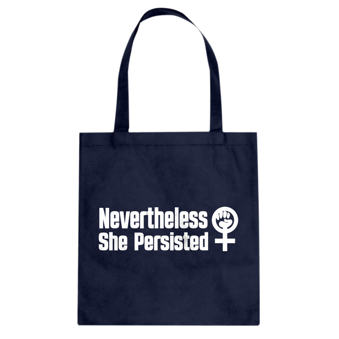 Tote She Persisted Bold Canvas Tote Bag