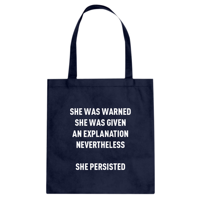 Tote She Persisted Venus Fist Canvas Tote Bag