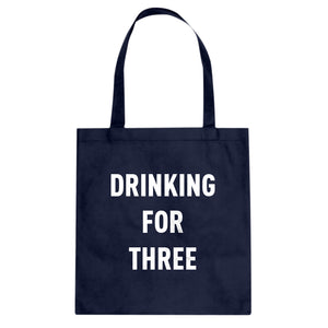 Drinking For Three Cotton Canvas Tote Bag