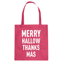 Tote Merry Hallow Thanks Mas Canvas Tote Bag