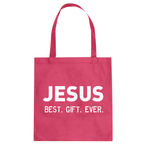Jesus, Best. Gift. Ever. Cotton Canvas Tote Bag