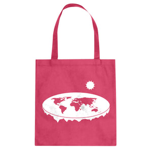 Tote Flat Earth Canvas Tote Bag