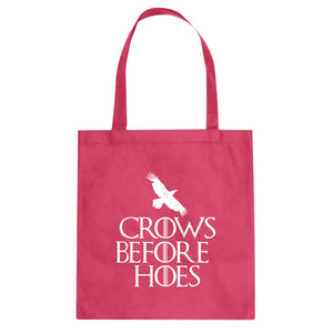 Tote Crows Before Hoes Canvas Tote Bag