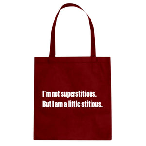 I'm not superstitious Cotton Canvas Tote Bag