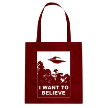 I Want to Believe Cotton Canvas Tote Bag