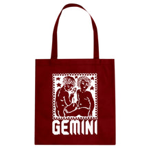 Tote Gemini Zodiac Astrology Canvas Tote Bag