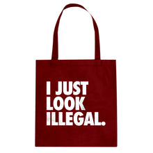 Tote Just Look Illegal Canvas Tote Bag