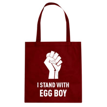 I Stand with Egg Boy Cotton Canvas Tote Bag
