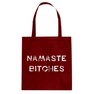 Tote Namaste Bitches Canvas Tote Bag
