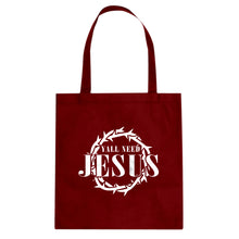 Tote Yall Need Jesus Canvas Tote Bag