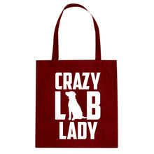 Tote Crazy Lab Lady Canvas Tote Bag