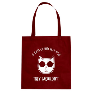 If Cats Could Text Cotton Canvas Tote Bag