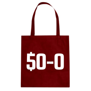 Tote 50-0 Undefeated Canvas Tote Bag