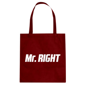 Tote Mr. Right Canvas Tote Bag