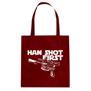 Tote Han Shot First Canvas Tote Bag