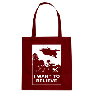 I Want to Believe Planet Express Cotton Canvas Tote Bag