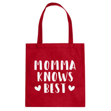Tote Momma Knows Best Canvas Tote Bag