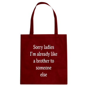 Tote Sorry ladies Canvas Tote Bag