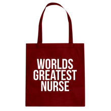 Tote Worlds Greatest Nurse Canvas Tote Bag